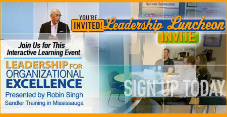 Sandler Training in Mississauga, ON by Robin Singh